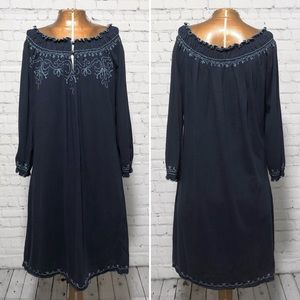Lucky Brand Embroidered Peasant Dress NWT